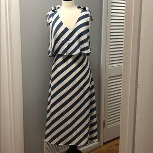 NWT collection by Babeau blue striped dress